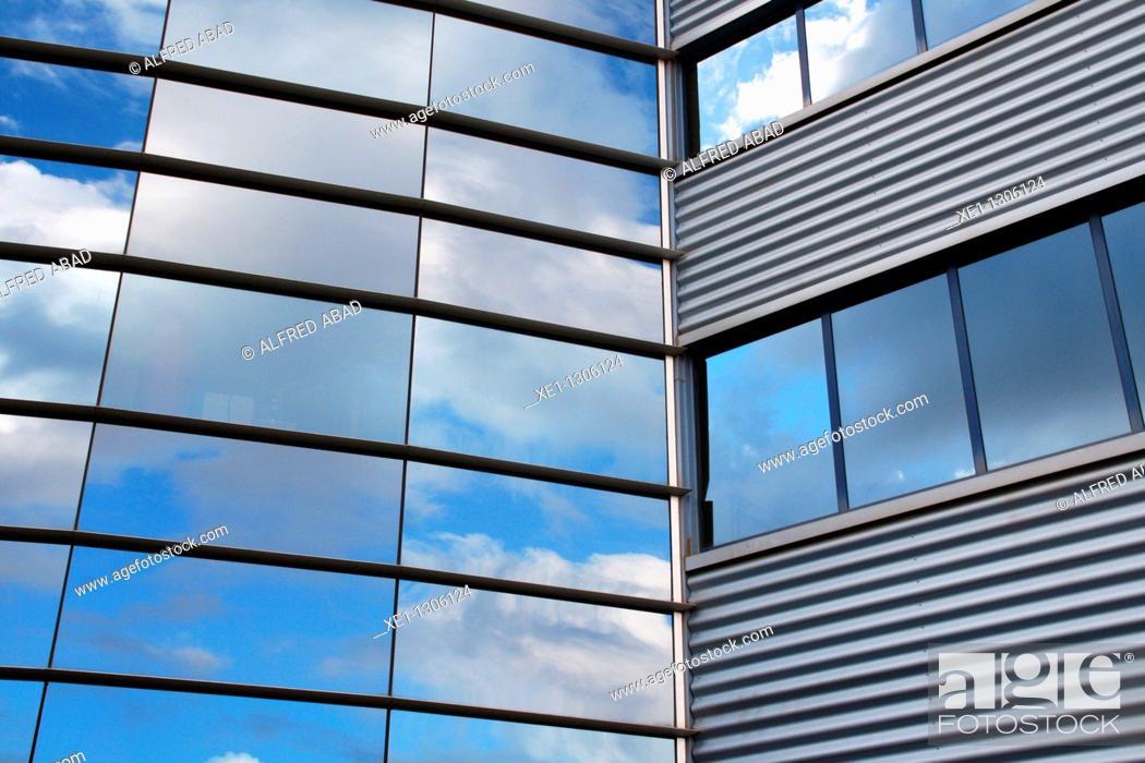 Stock Photo: Office building, Parque Tecnologico del Valles, Cerdanyola del Valles, Catalonia, Spain.