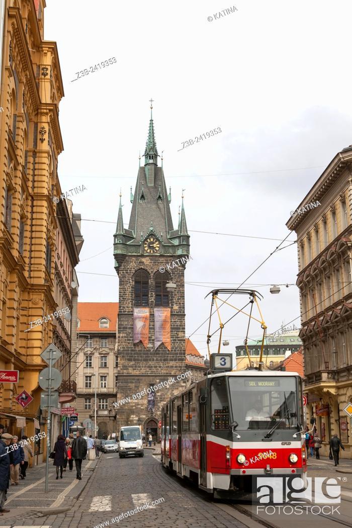 Imagen: Jindrisska Bell Tower in Nove Mesto district, Prague, Czech Republic, Europe.