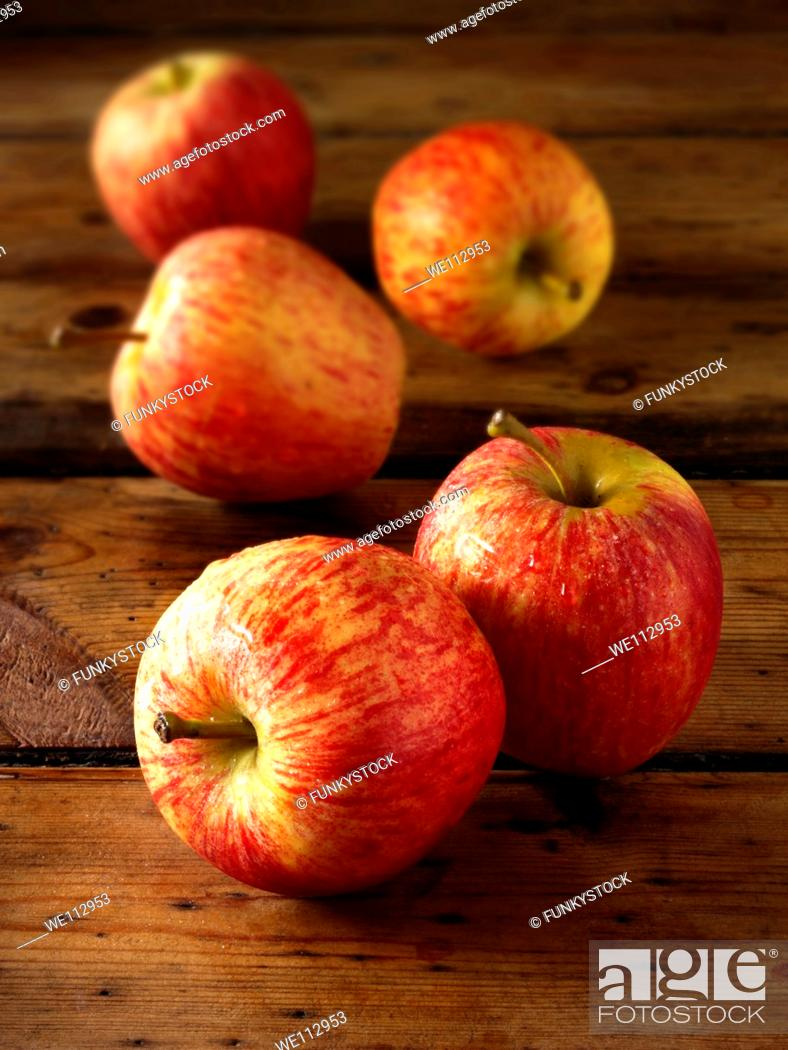 Stock Photo: Royal Gala apples.