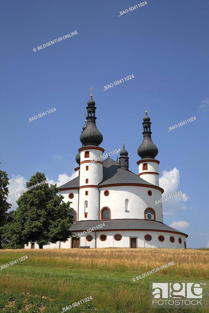 Stock Photo: The pilgrimchurch of Kappl, near Waldsassen, Upper Palatinate, Bavaria, Germany.