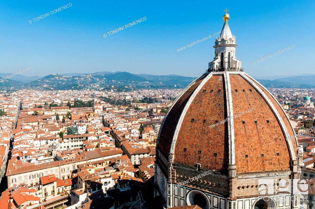 Stock Photo: Italy, Tuscany, Florence, UNESCO World Heritage Site, the cathedral Santa Maria del Fiore, the dome.