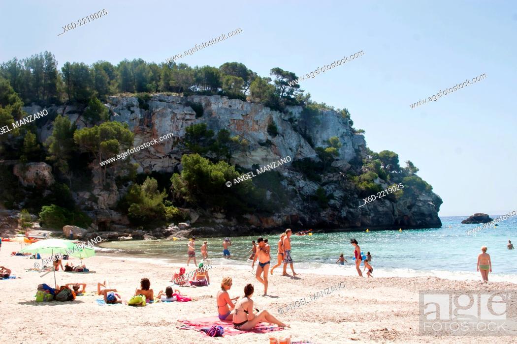 Stock Photo: Macarella cove, Menorca.
