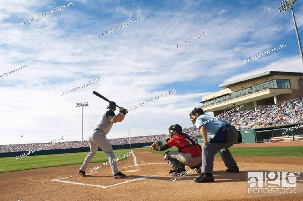 Stock Photo: Batter ready to swing.