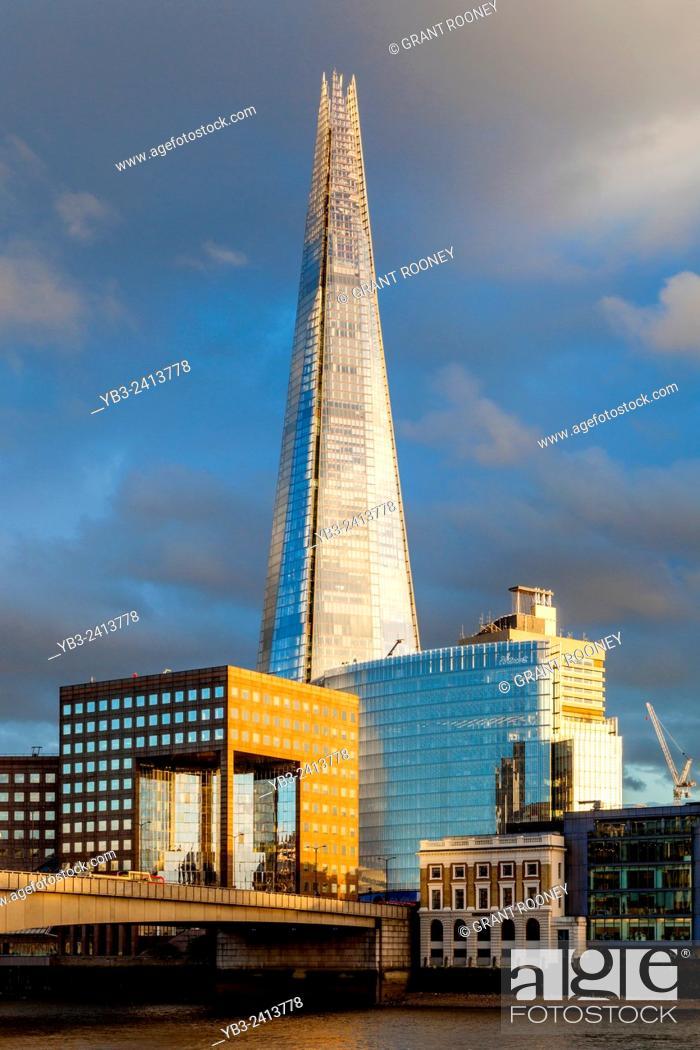 Stock Photo: The Shard and London Bridge Quarter, London, England.
