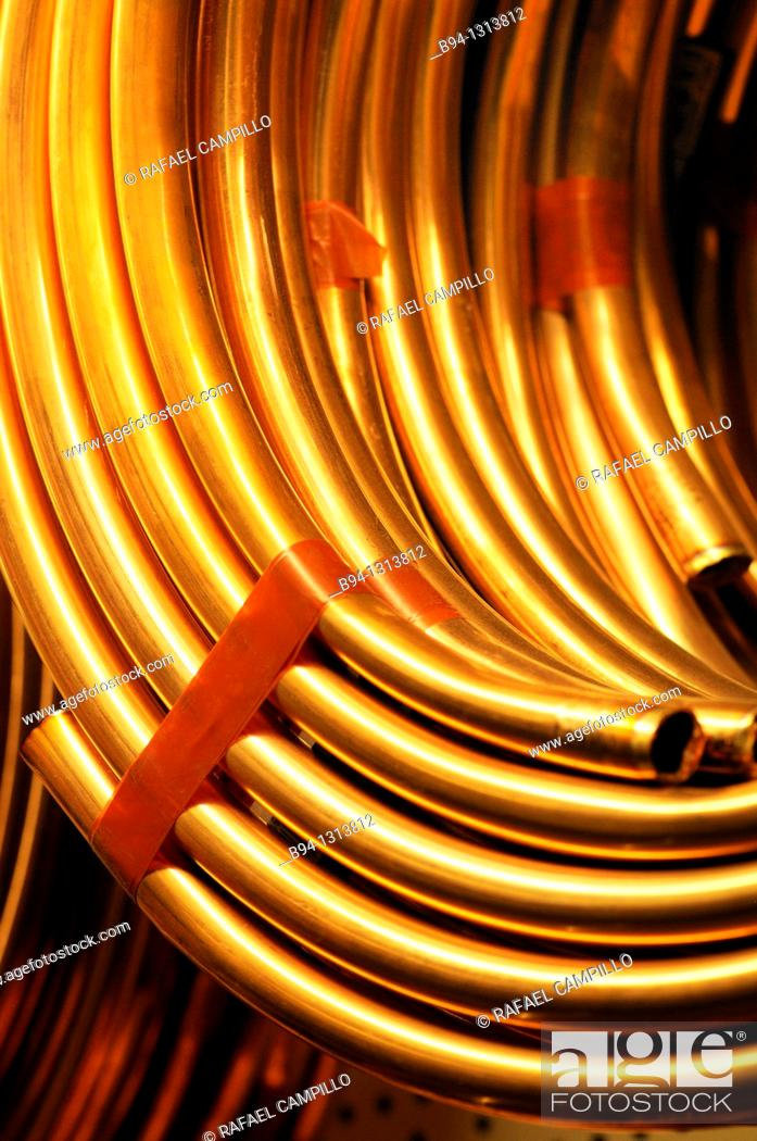 Stock Photo: Copper pipes.