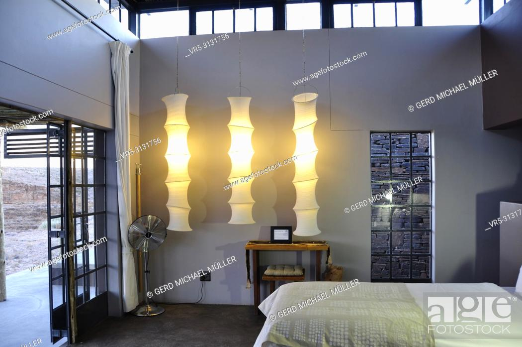 Stock Photo: The Feng Shui Interior design of the Fish River Lodge on the boarder of the second biggest canyon worldwide.