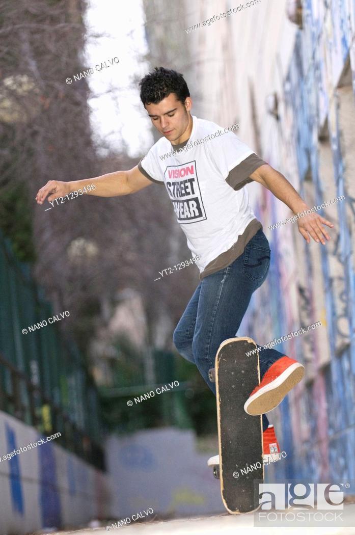 Stock Photo: Kilian Martin, Freestyle Skateboard World Cup Champion.