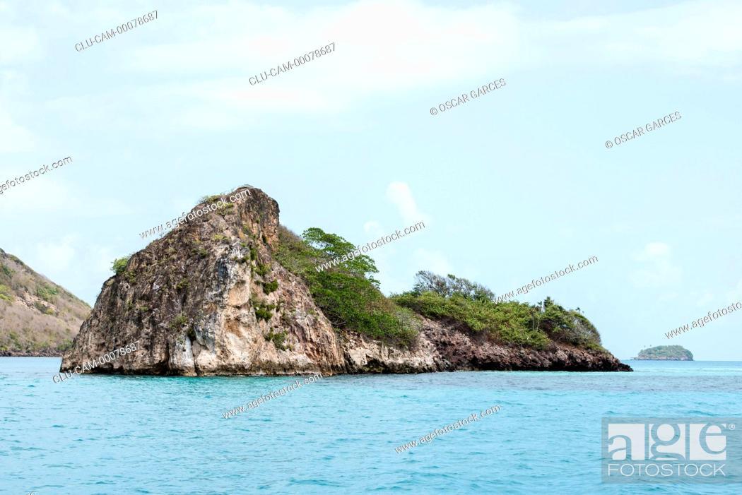 Stock Photo: Keys Three Brothers, San Andres Island, Archipelago of San Andres, Providencia and Santa Catalina, Colombia.