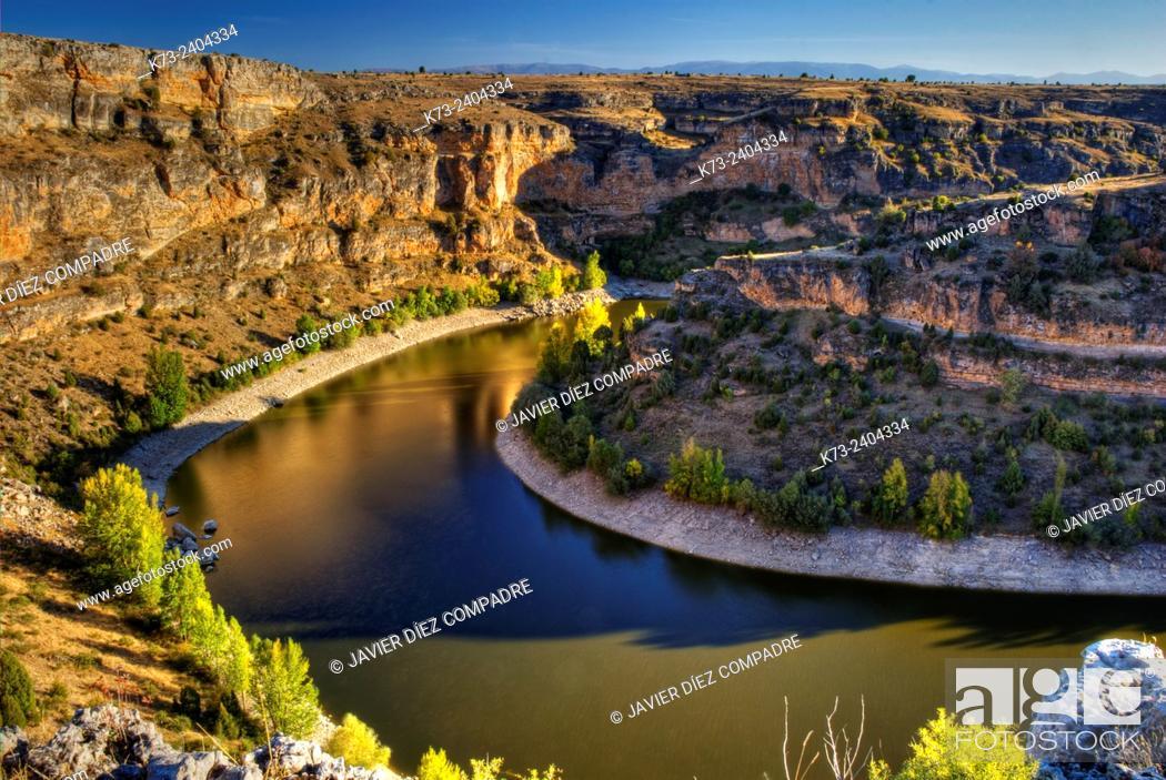 Stock Photo: Hoces del Duraton Natural Park. Segovia Province, Castilla y Leon. Spain.