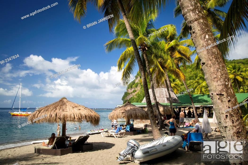 Stock Photo: Anse Chastanet Beach Resort near Soufriere, St Lucia, West Indies.