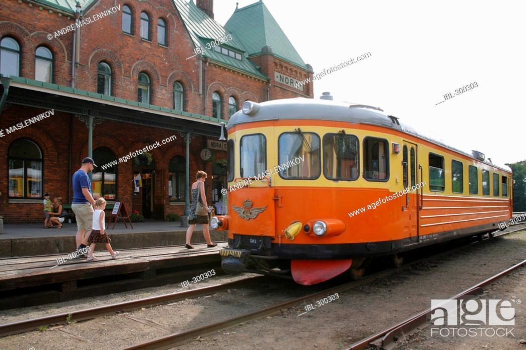 Stock Photo: Railbus, Nora, Sweden.