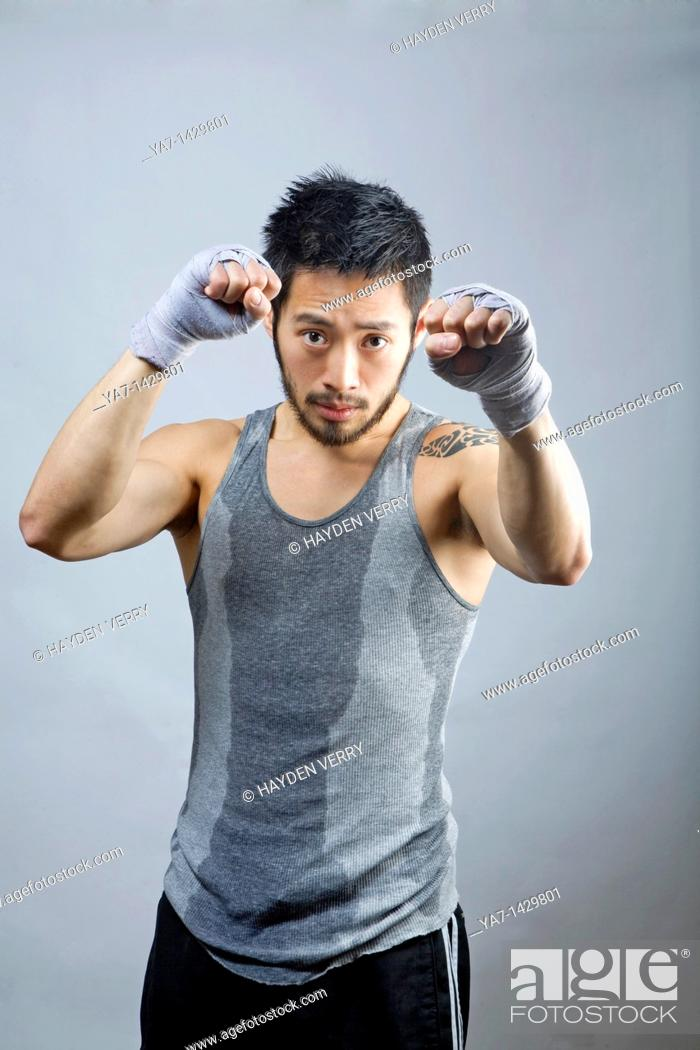 Stock Photo: Chinese Man with Tattoo.
