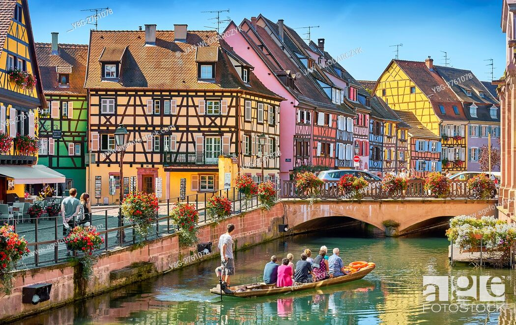 Stock Photo: Half-timbered houses, Colmar, France.