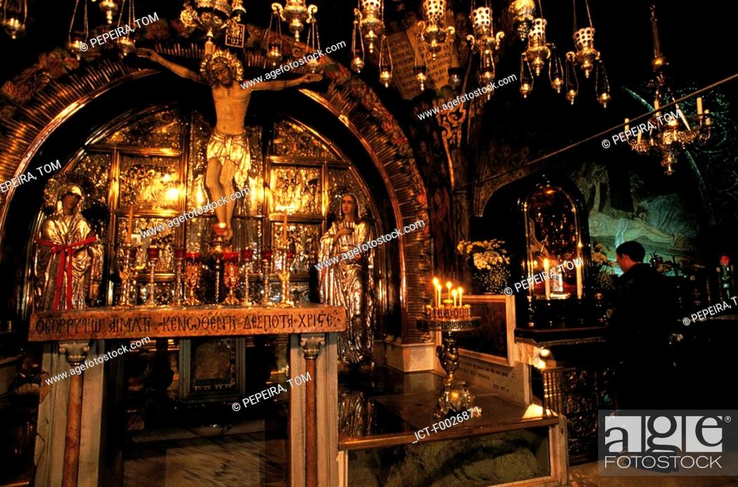 Stock Photo: Israel, Jerusalem, church of the Holy Sepulchre.