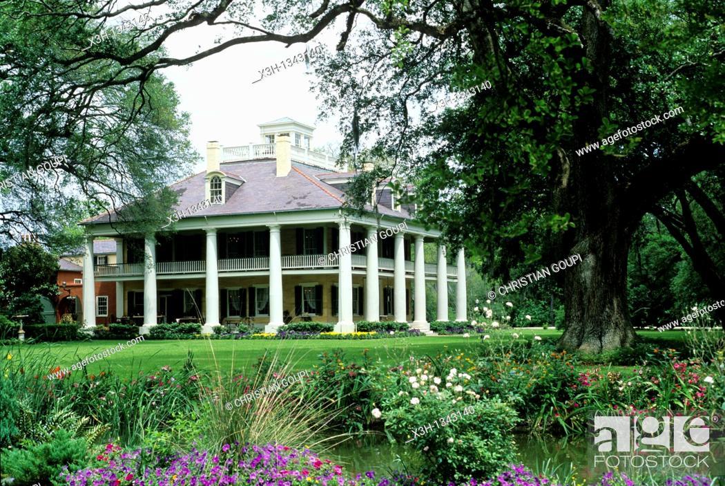 Stock Photo: Houmas House Plantation and Gardens, Louisiana, United States of America, Americas.