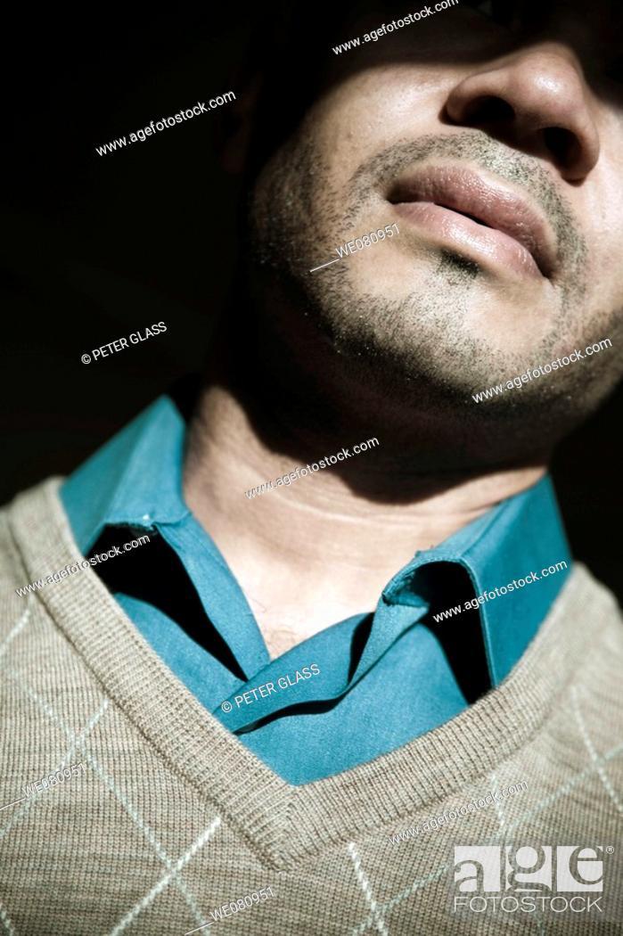 Stock Photo: Young Hispanic man posing.