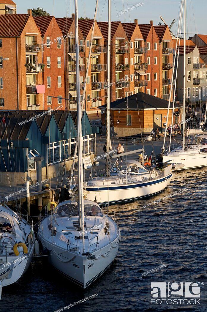 Stock Photo: Habor of Sonderborg, Denmark, Baltic Sea.