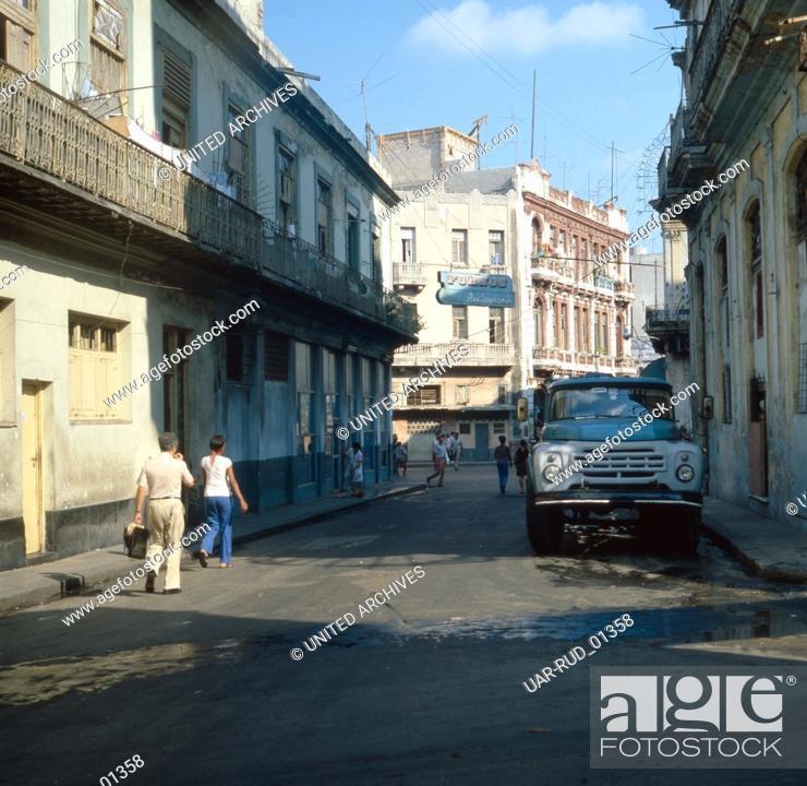Imagen: Eine Reise nach Havanna, Kuba 1980er Jahre. A trip to Havana, Cuba 1980s.