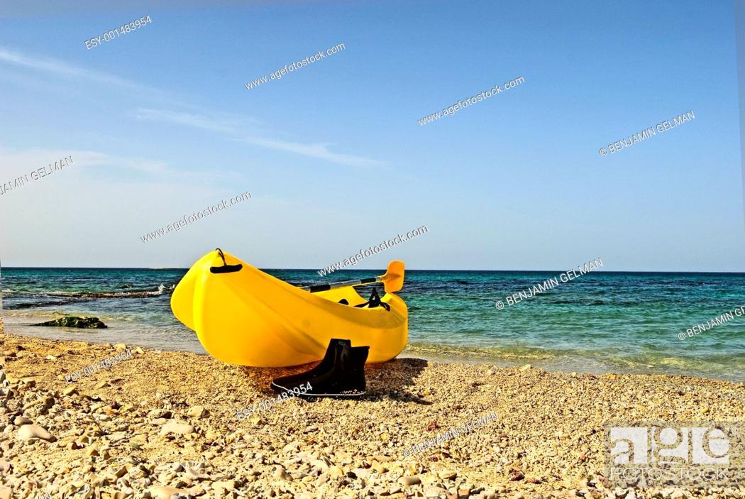 Stock Photo: Boat on coast.