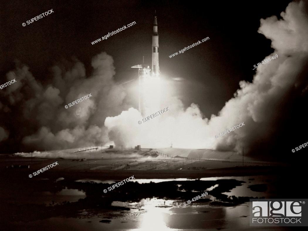Stock Photo: Launch of Apollo 17.