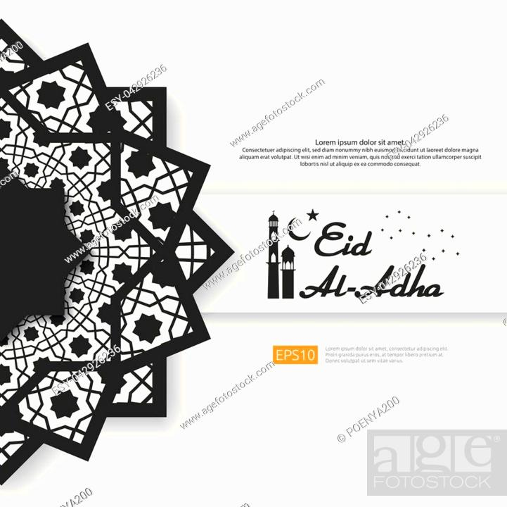 Eid Al Adha Mubarak Greeting Design Abstract Mandala