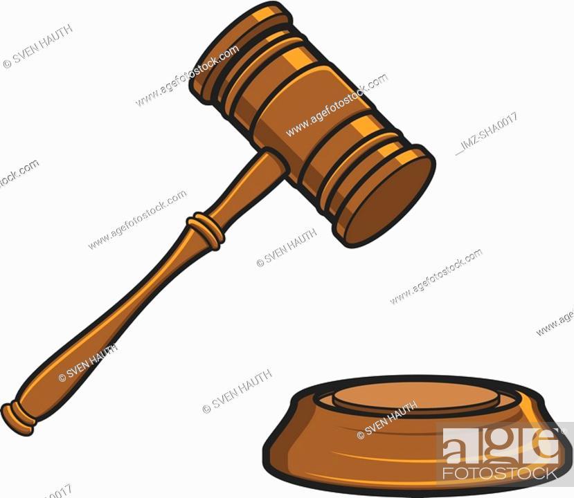 Stock Photo: Judges gavel.