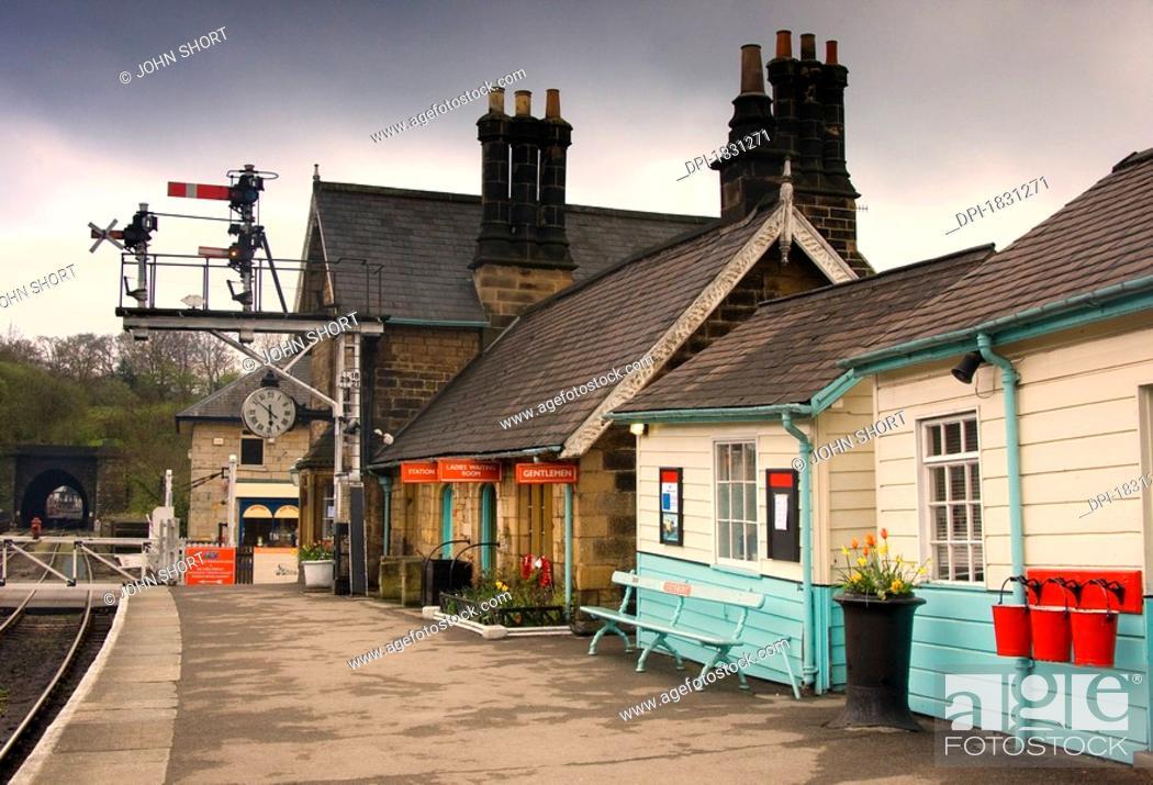 Stock Photo: Grosmont Station, North Yorkshire, England.
