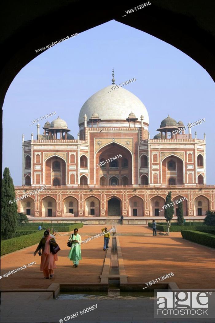 Stock Photo: Humayun's Tomb, New Delhi, India.