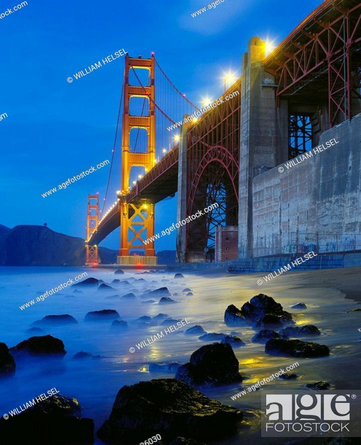 Stock Photo: Golden Gate Bridge, San Francisco. California, USA.