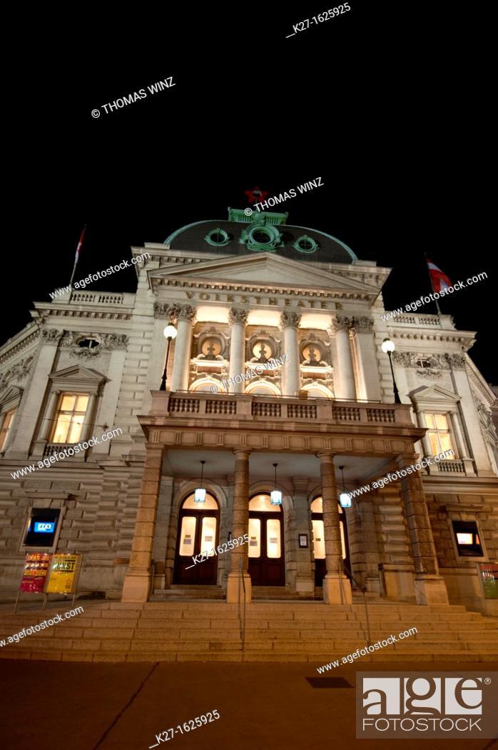 Stock Photo: Volkstheater, Vienna, Austria.