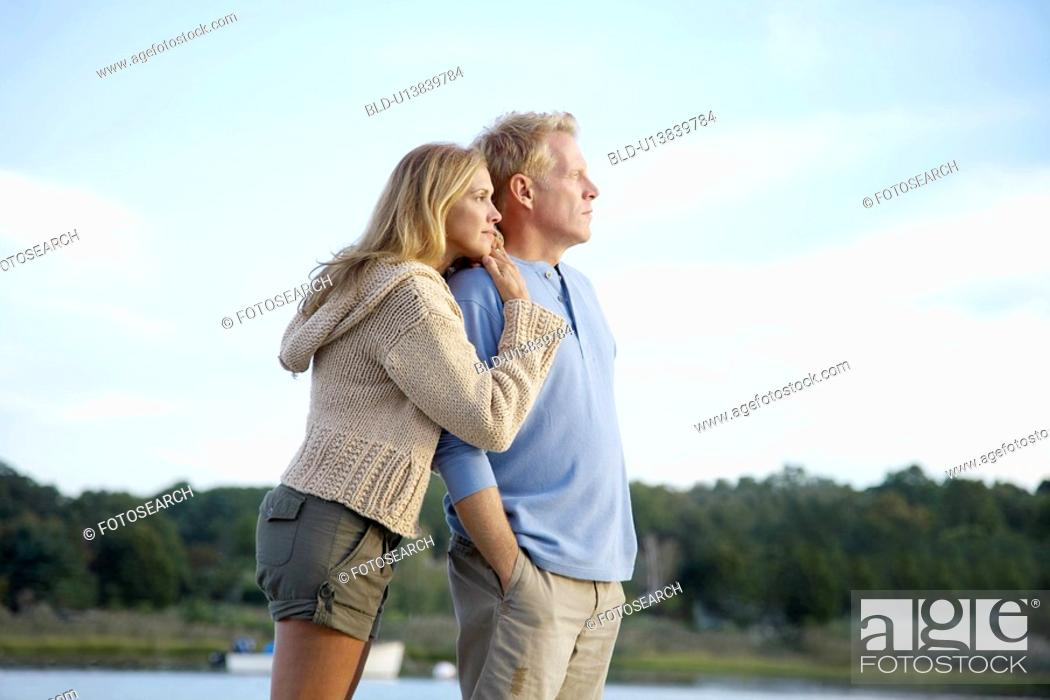 Stock Photo: Couple looking at view.