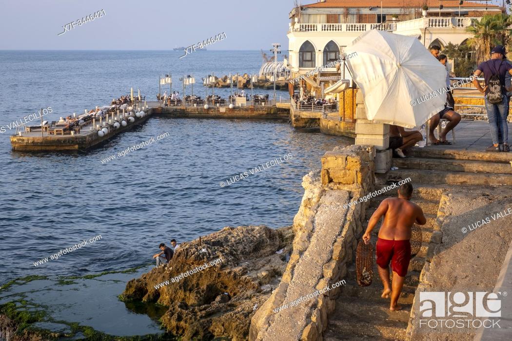 Stock Photo: Corniche, Beirut, Lebanon.