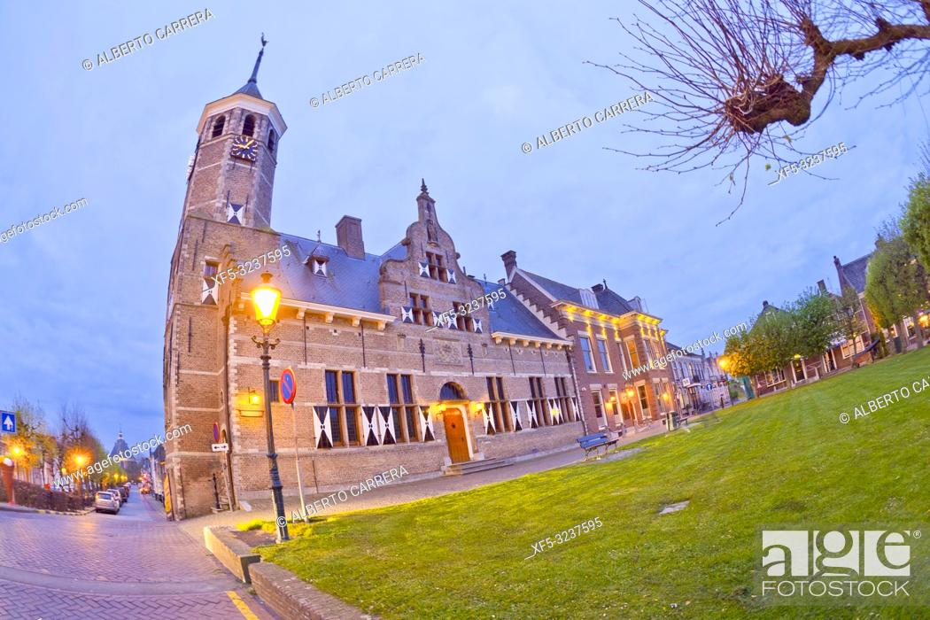 Photo de stock: Old Town Hall, Willemstad, Noord-Brabant Province, Holland, Netherlands, Europe.