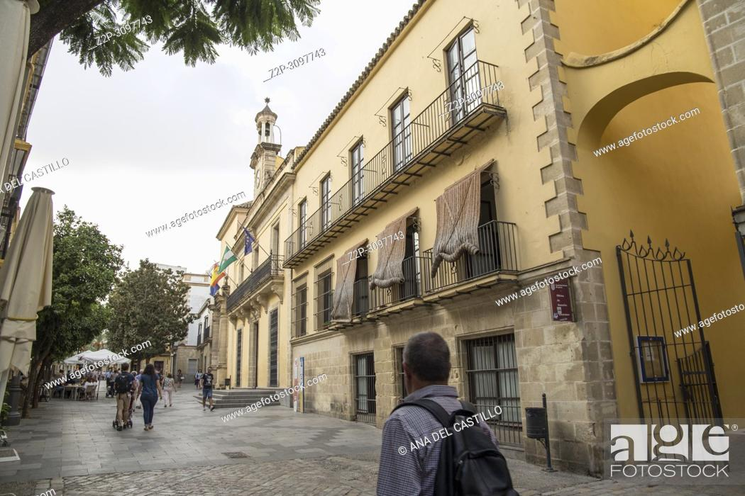 Stock Photo: Cityscape in Jerez de la Frontera Cadiz province Andalusia Spain on October 13, 2017.