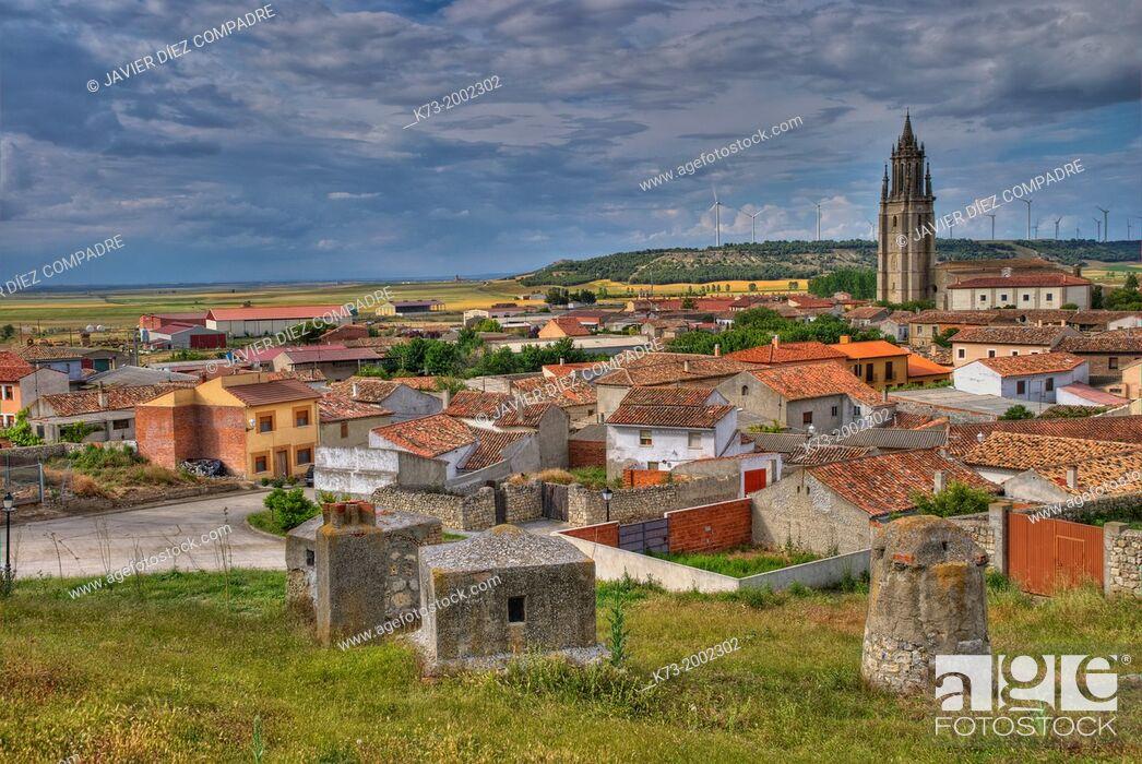 Stock Photo: Ampudia. Palencia Province. Castilla y León. Spain.