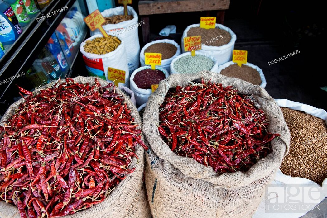 Imagen: Chillies and spices, Jaffna Town, Sri Lanka.