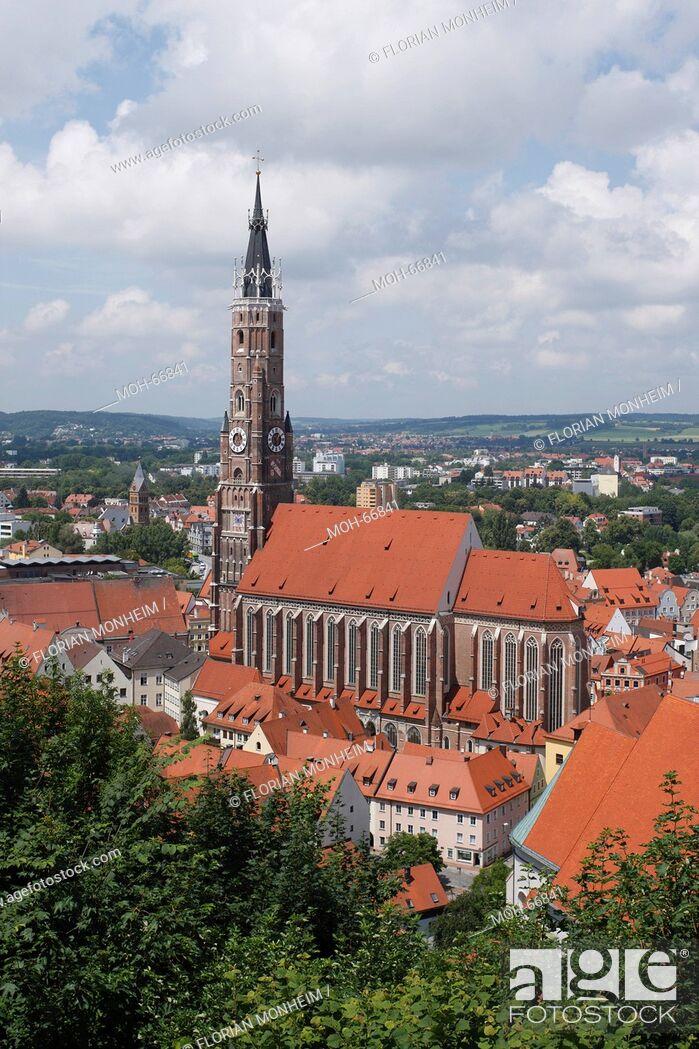 Imagen: Landshut, Stifts- und Pfarrkirche St. Martin.