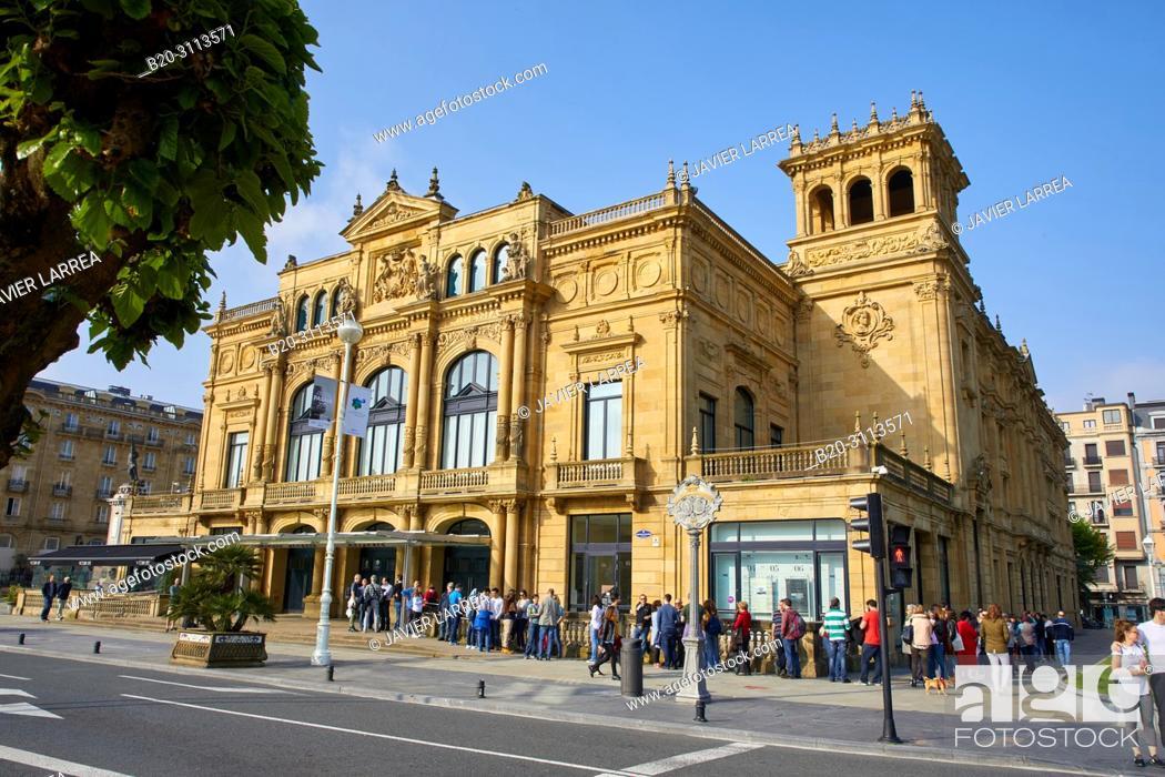 Stock Photo: Event, Victoria Eugenia Theatre, Donostia, San Sebastian, Gipuzkoa, Basque Country, Spain, Europe.