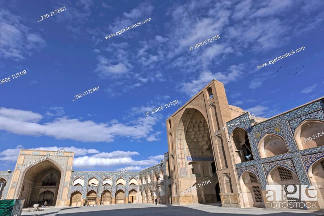 Stock Photo: Jameh Mosque, Isfahan, Iran.