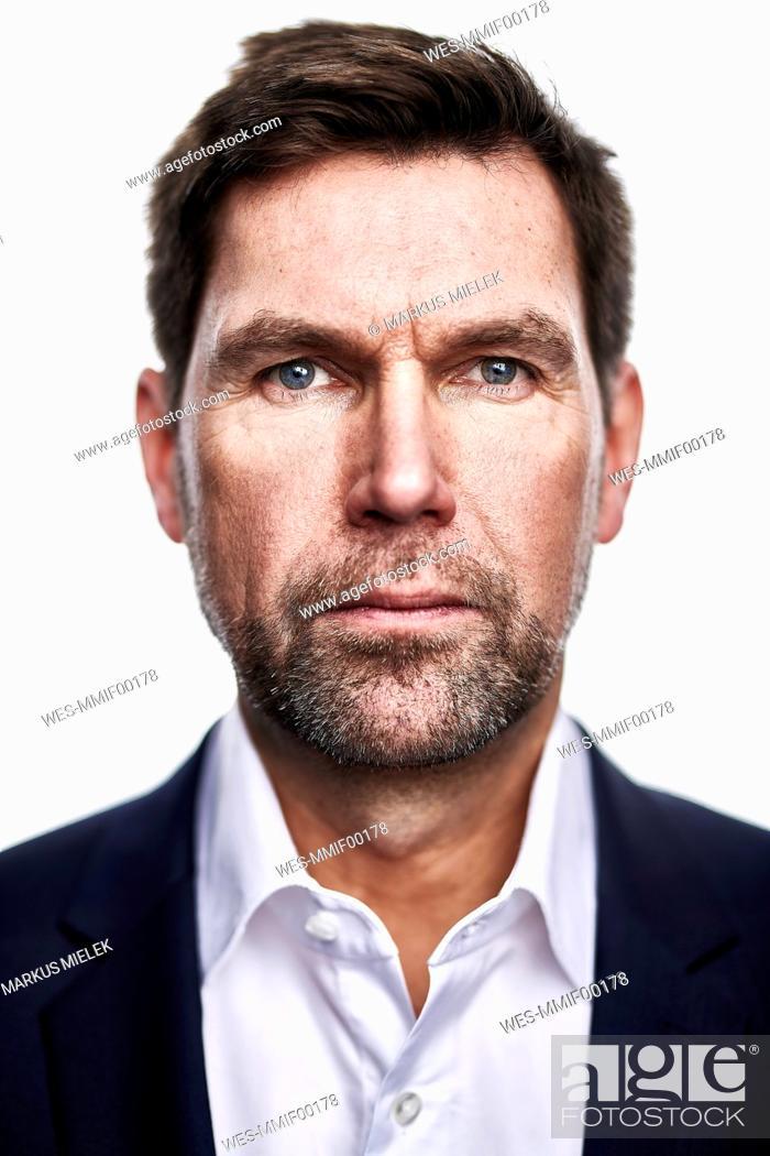 Stock Photo: Portrait of serious man.