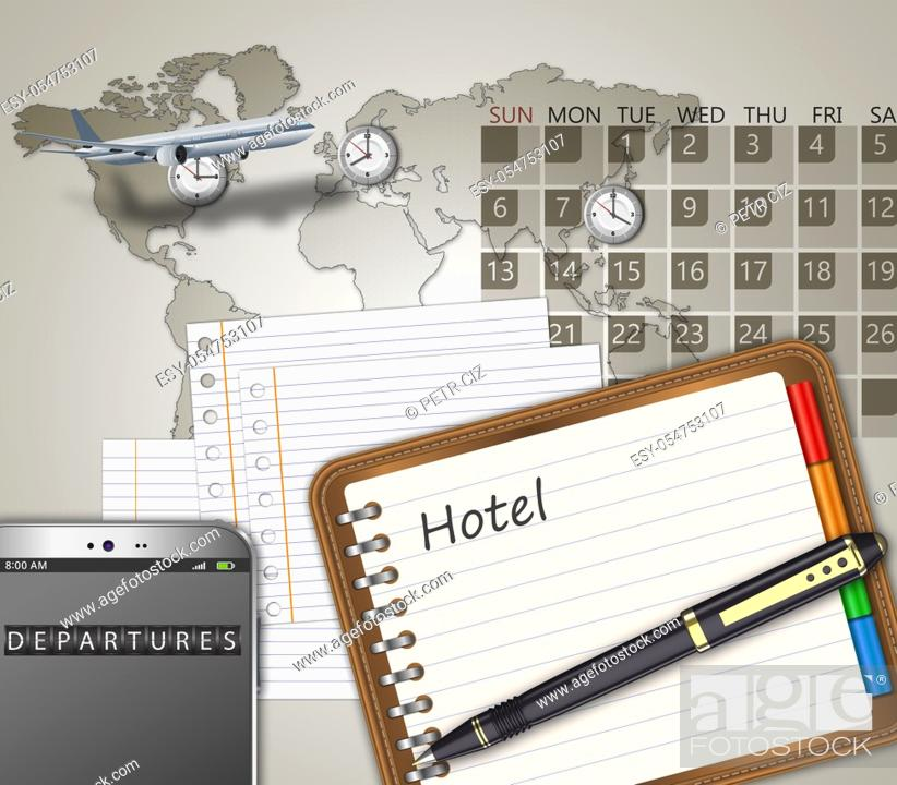 Stock Photo: Business travel the world as a concept.