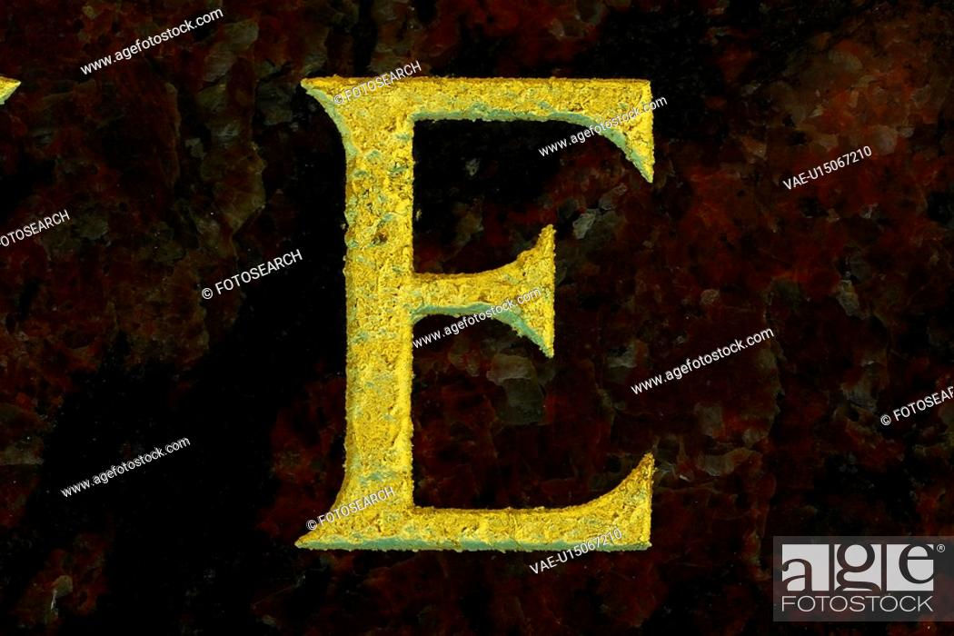 Stock Photo: language, letter, stencil, formed, cut out, alphabet.