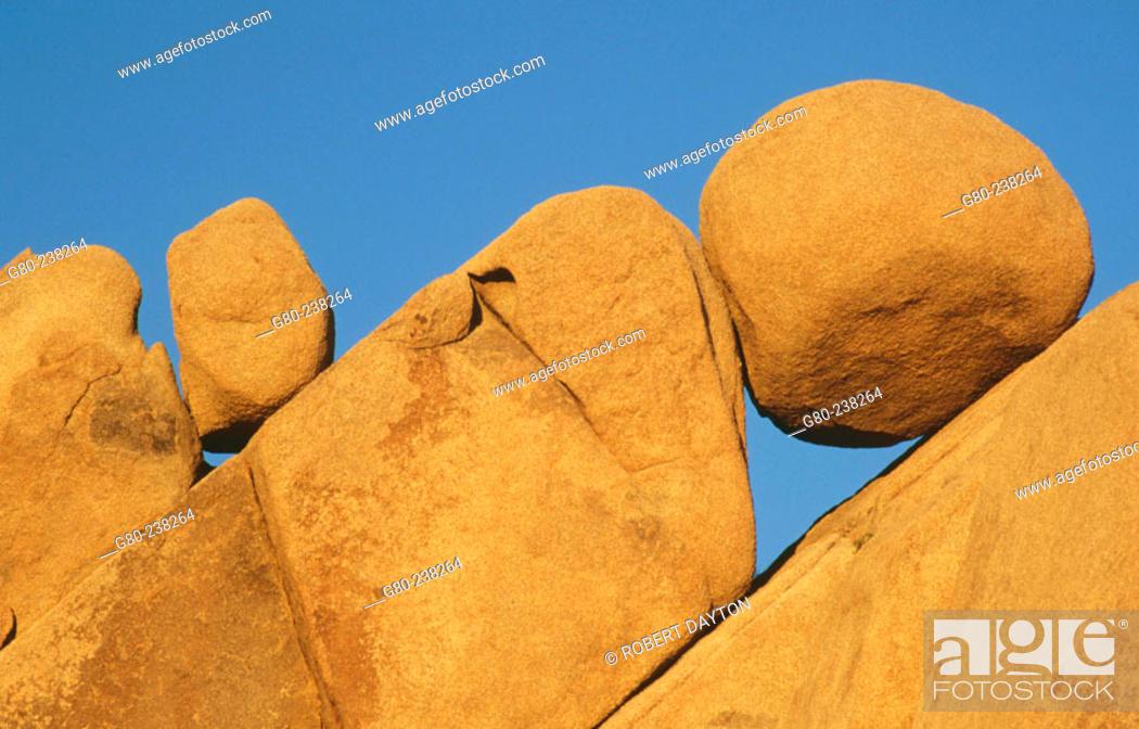 Stock Photo: Jumbo Rocks, Joshua Tree National Park. California. USA.