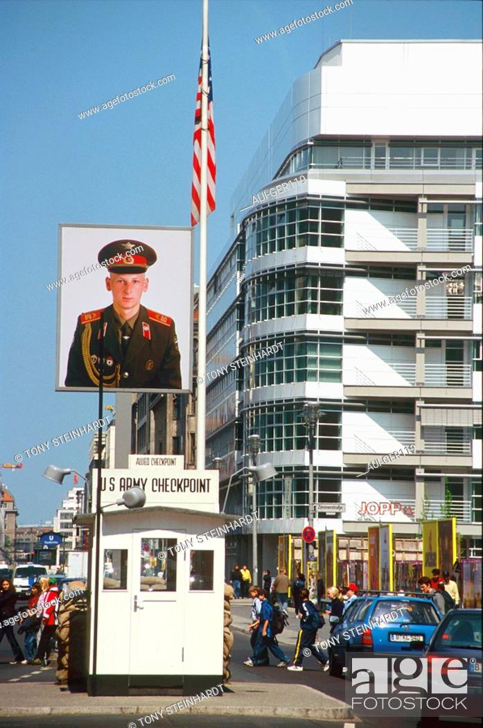 Stock Photo: Germany - Berlin - Checkpoint Charlie.