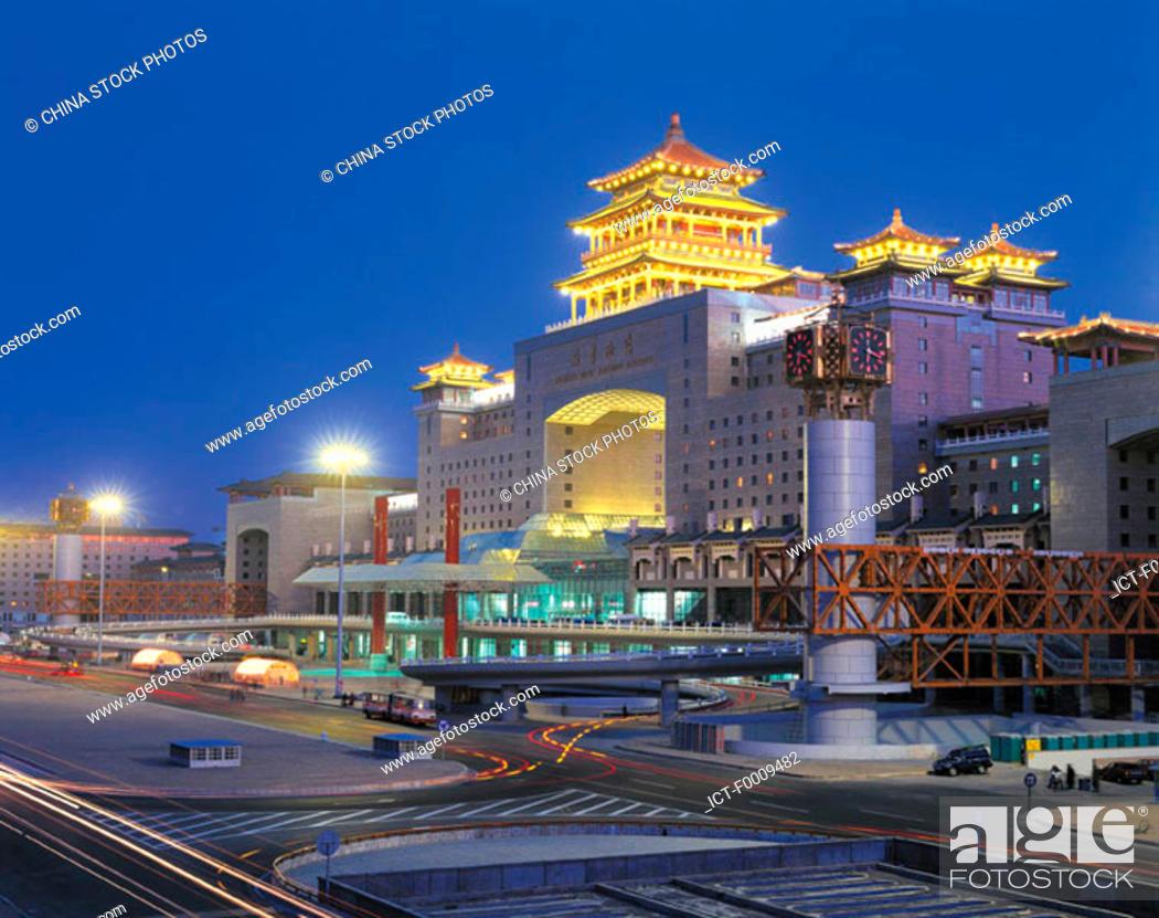 Stock Photo: China, Beijing, railway station.