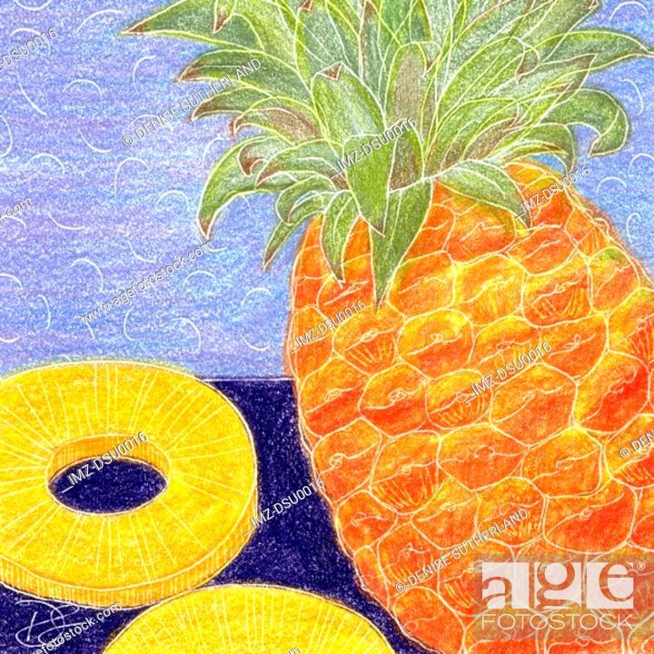 Stock Photo: pineapple.