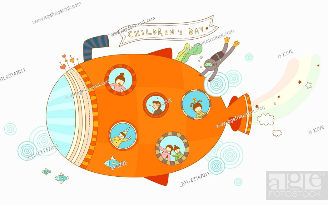 Stock Photo: Close-up of submarine.