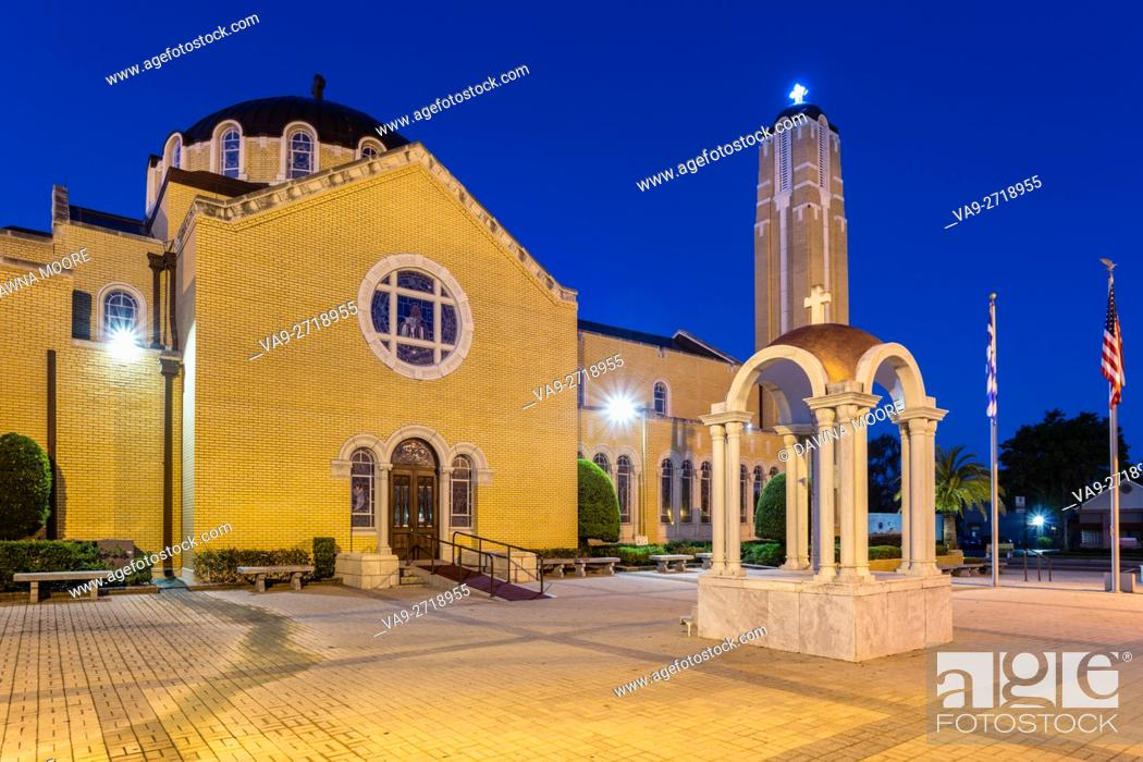 Stock Photo: St. Nicholas Greek Orthodox Cathedral, Tarpon Springs, Florida.