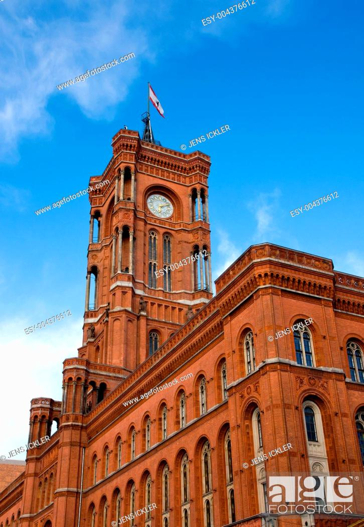 Stock Photo: Das Rote Rathaus in Berlin.