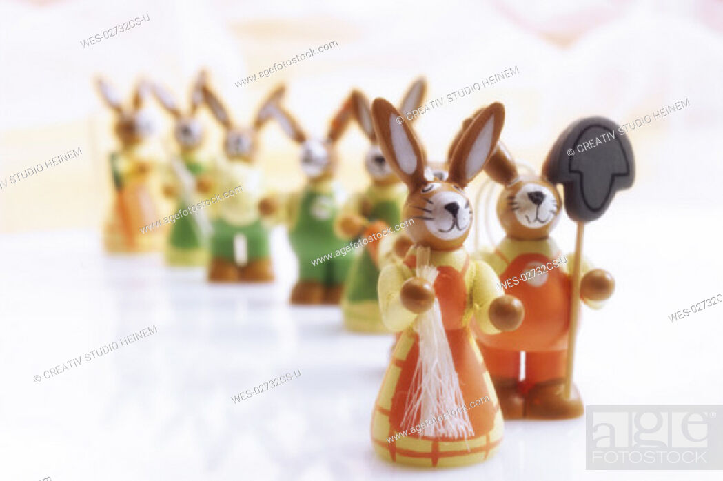 Stock Photo: Easter bunnies.
